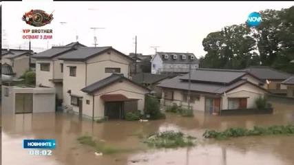 Десетки хиляди се евакуират в Япония заради наводнения