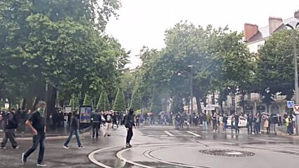 France: Police break up rally in Nantes against newly-introduced COVID restrictions