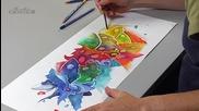 Рисуване с акварелни моливи (демонстрация)