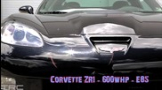 Corvette Zr1 600hp срещу Honda Civic 570hp