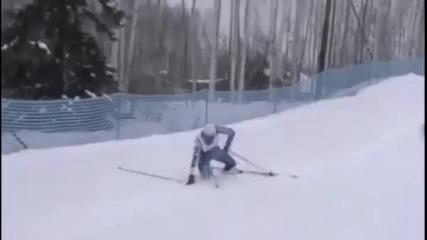 Много некадърен скиор