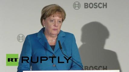 Germany: Merkel inaugurates new Bosch Research Centre in Remmingen