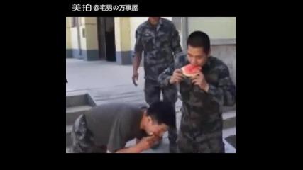 Надпревара по ядене на диня в Китай !