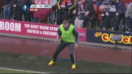 Ето как Белъми загрява преди дербито с Юнайтед