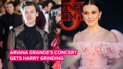 Harry Styles & Millie Bobby Brown got so groovy at Ariana Grande's concert