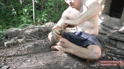 Primitive Technology Woven bark fiber