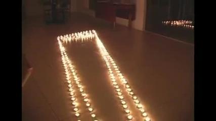 Супер яка илюзия със свещи