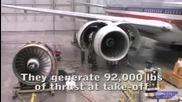 Боинг 777 на Американ Еърлайнс си сменя двиагетля
