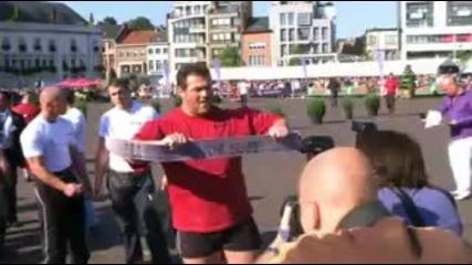 Strongest Man Of Belgium!