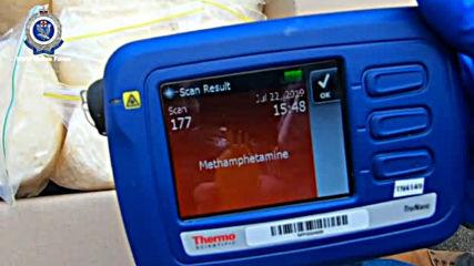 Микробус, пълен с метамфетамин за 140 млн. долара, удари патрулка в Сидни (ВИДЕО)
