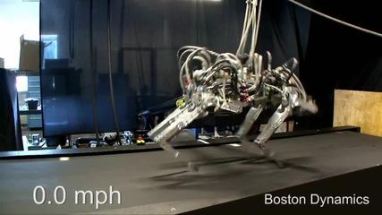 Робот бяга с 28,3 км в час.