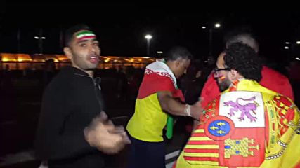 Russia: Fans come to life after tense Spain v Iran clash