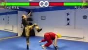 Real Life Tekken Fight Hwoarang Vs Paul Taekwondo Kungfu Karate Film Menejer 2016 Hd