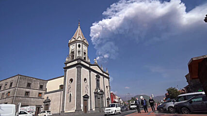 Italy: Mount Etna erupts for the tenth time in 16 days resulting in 300-metre-high clouds of ash