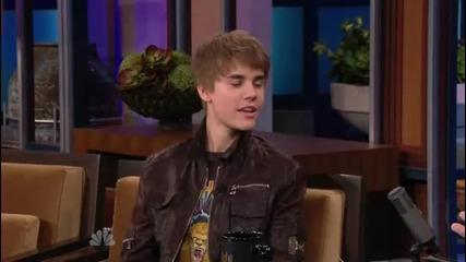 Justin Bieber в шоуто на Jay Leno 28.01.2011