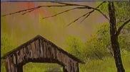 S03 Радостта на живописта с Bob Ross E06 - покрит мост ღобучение в рисуване, живописღ