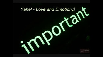 Yahel - Love and Emotion