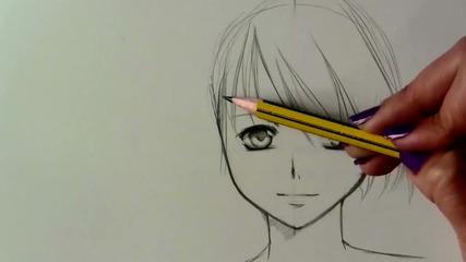 How to draw a Manga girl—slow tutorial [hd!!]