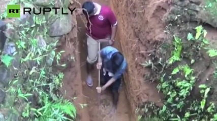 """Cute """"Dumbo"""" Baby elephant rescued from abandoned well"""