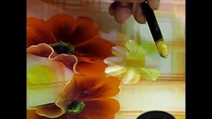 Рисуване върху чиния