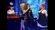 Деница, Нора, Пламена и Фънки - Мулен руж - Music Idol 2 - 17.03.2008г. (супер качество)