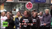 """UK: """"Tory scum!"""" - Anti-austerity protesters descend on Manchester for party conference"""