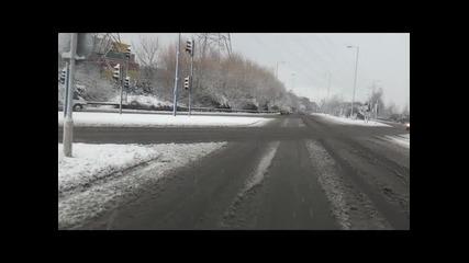 Първи сняг в град Southampton (южна Англия 18.01.2013год.)
