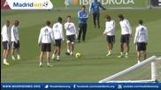 Тренировката на Реал Мадрид преди мача с Райо Валекано
