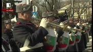 Военен ритуал за издигане на Националния трибагреник - пряко предаване от паметника на Незнайния вои