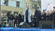 Released Serbian Nationalist Flaunts Freedom, Burning Croatian Flag