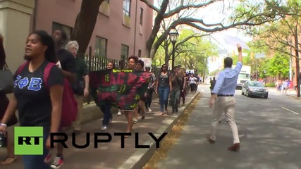 USA: #BlackLivesMatter protest demands Walter Scott justice