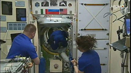 ISS: Skvortsov, Parmitano and Morgan board ISS