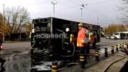 """Автобус от градския транспорт пламна на """"Цариградско шосе"""""""