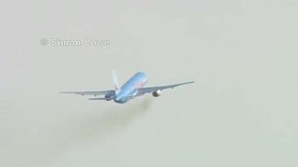 Фал при излитане на самолет