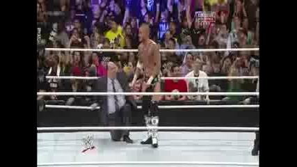 Си Ем Пънк Срещу Скалата За Титлата На Федерацията Royal Rumble 2013
