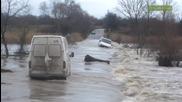 Наводнения в Южна България - река Марица достигна критични нива при Свиленград