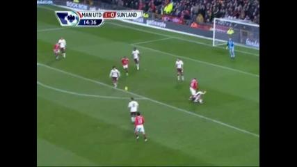 Манчестър Юнайтед – Съндерланд (2:0) 2 - та гола на Димитър Бербатов