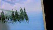 S05 Радостта на живописта с Bob Ross E01 - планинска каскада от вода ღобучение в рисуване, живописღ