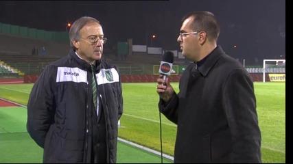 Дерменджиев: Трудно е да има мотивация за А група, след като ще ходят да играят в Мадрид след малко