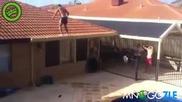Рискован скок в басейна