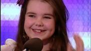 12г. момиче изуми журито с гласа си - Великобритания търси талант