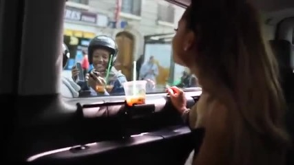 Ariana Grande Singing Along with Fans in Paris while in the Car and the Fans in their Motorcycle...