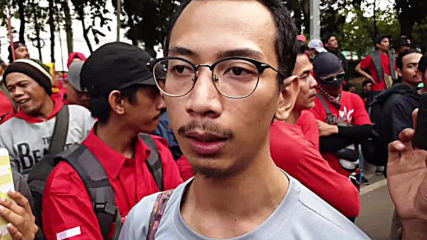 Indonesia: Workers protest against proposed labor law reforms in Jakarta