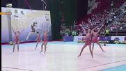 Награждаване - ансамбли - Световна купа по художествена гимнастика - София 2016