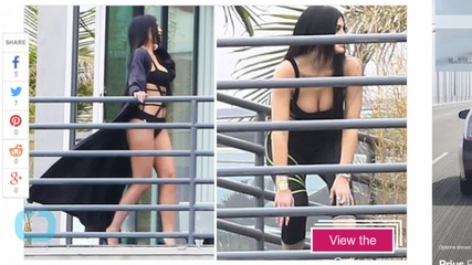 Kylie Jenner Channels Kim Kardashian, Spotted Modeling a Sexy Monokini on a Balcony