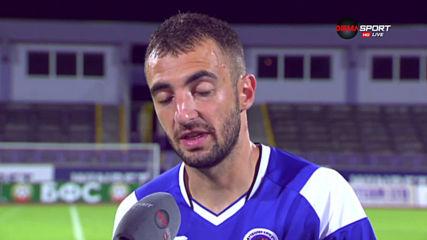 Дани Младенов спечели приза за играч на мача