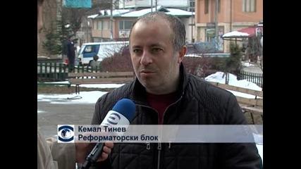 Кафе на мира след победата на ДПС на местните избори в Сърница