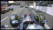 F1 Гран при на Монако 2012 - старта на състезанието от болида на Vettel [hd][fom][onboard]