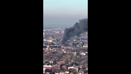 USA: Huge blaze rips through Chicago scrap yard, prompts hazmat response
