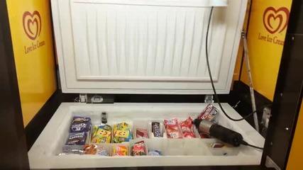 Ловене на сладолед с машинка